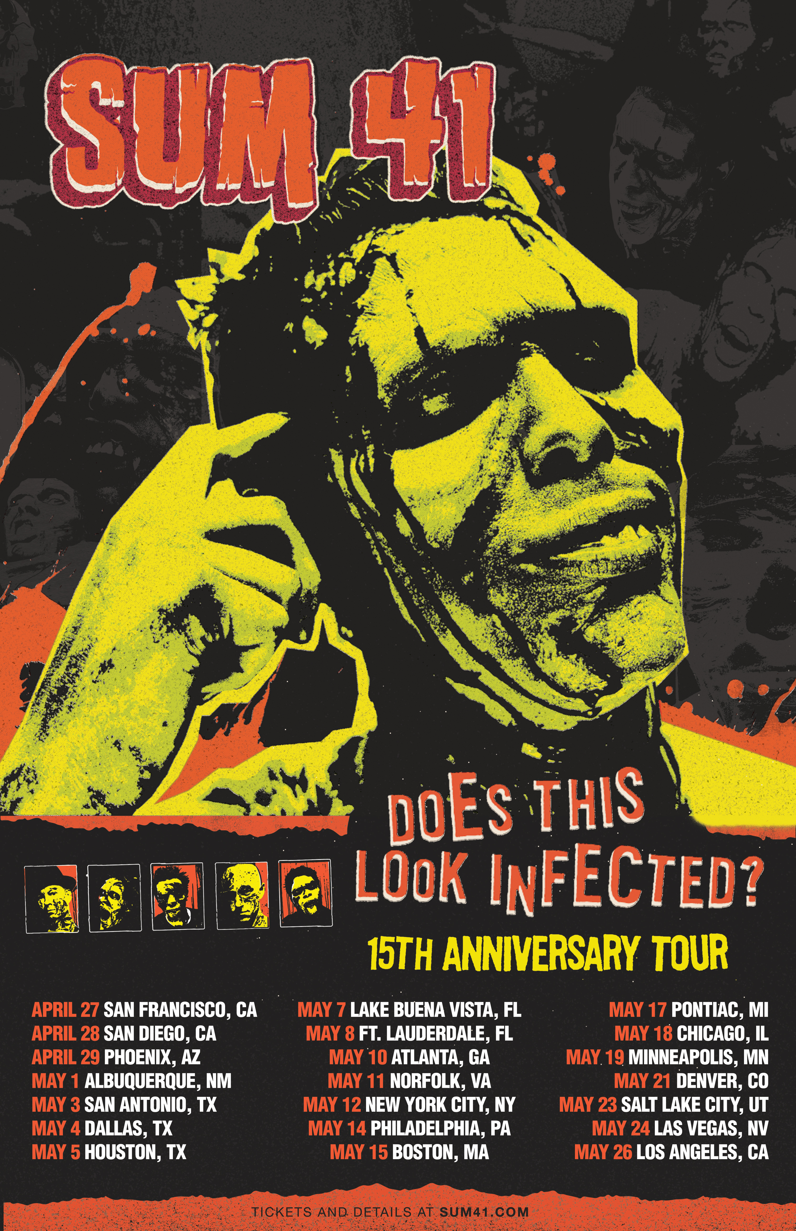 SUM 41 11x17 Poster ALL DATES 2